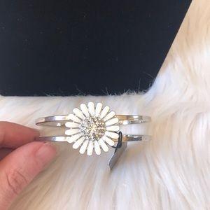 Cookie Lee Daisy Genuine Crystal & Enamel Bracelet